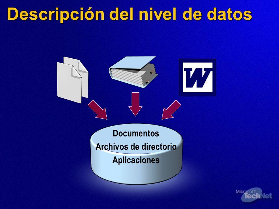 Descripción del nivel de datos
