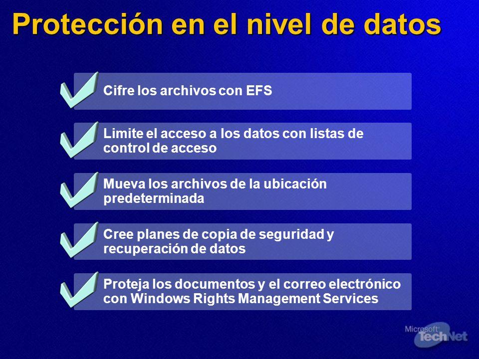 Protección en el nivel de datos