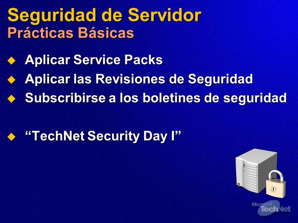 Seguridad de Servidor Prácticas Básicas