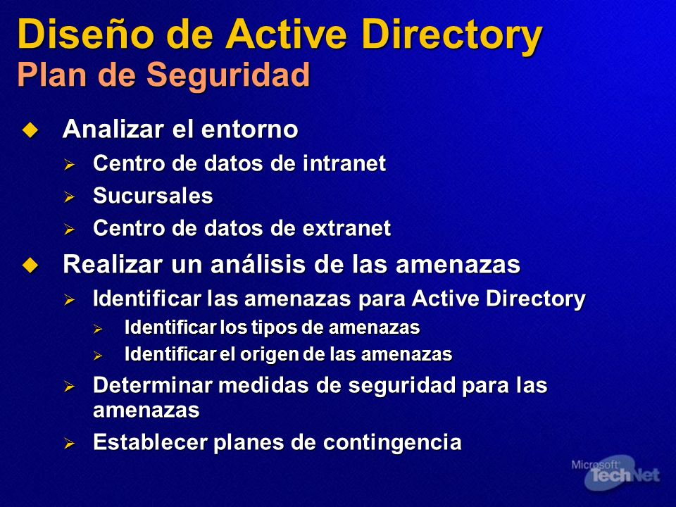 Diseño de Active Directory Plan de Seguridad