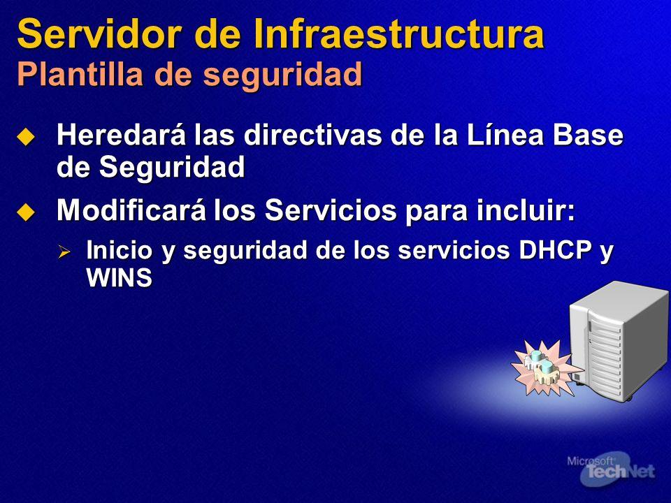Servidor de Infraestructura Plantilla de seguridad