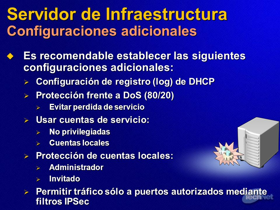 Servidor de Infraestructura Configuraciones adicionales