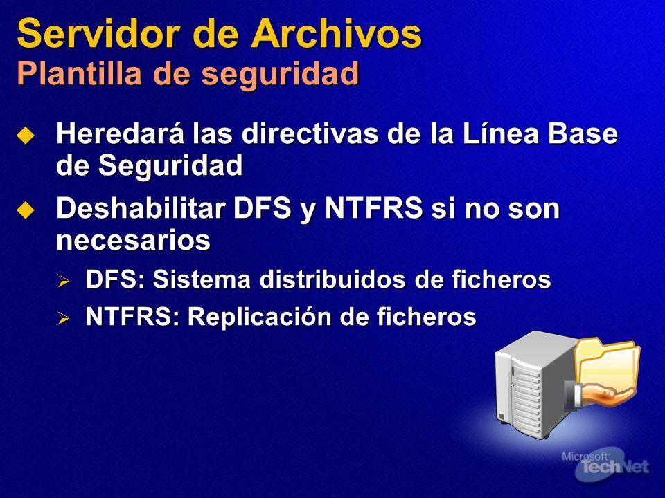 Servidor de Archivos Plantilla de seguridad