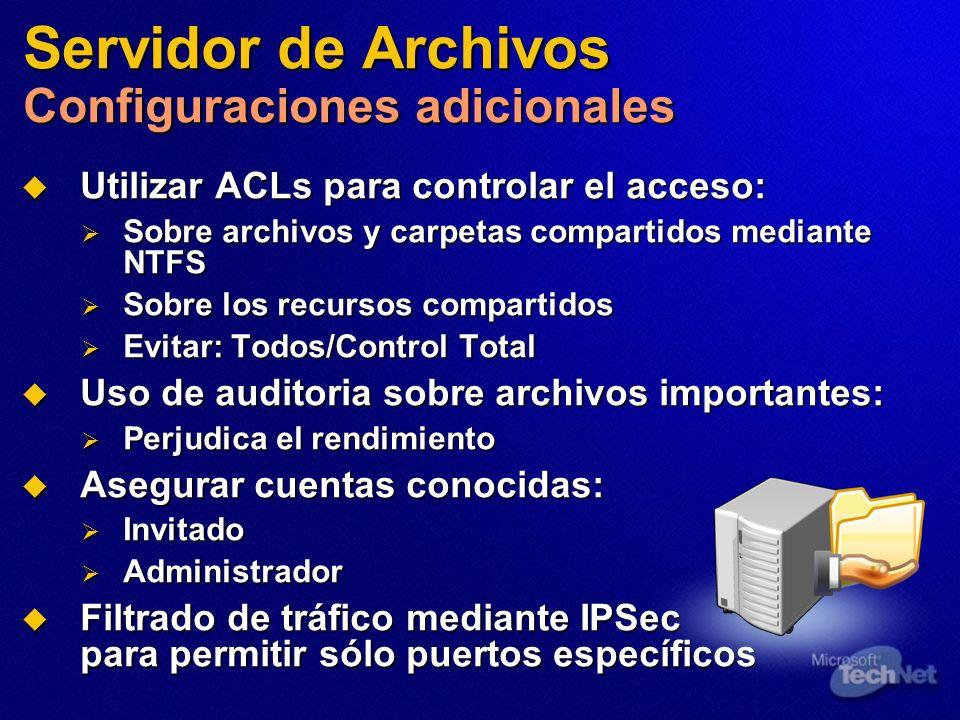 Servidor de Archivos Configuraciones adicionales