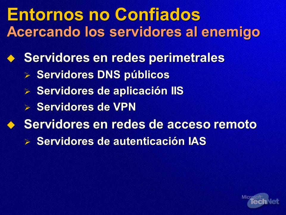 Entornos no Confiados Acercando los servidores al enemigo