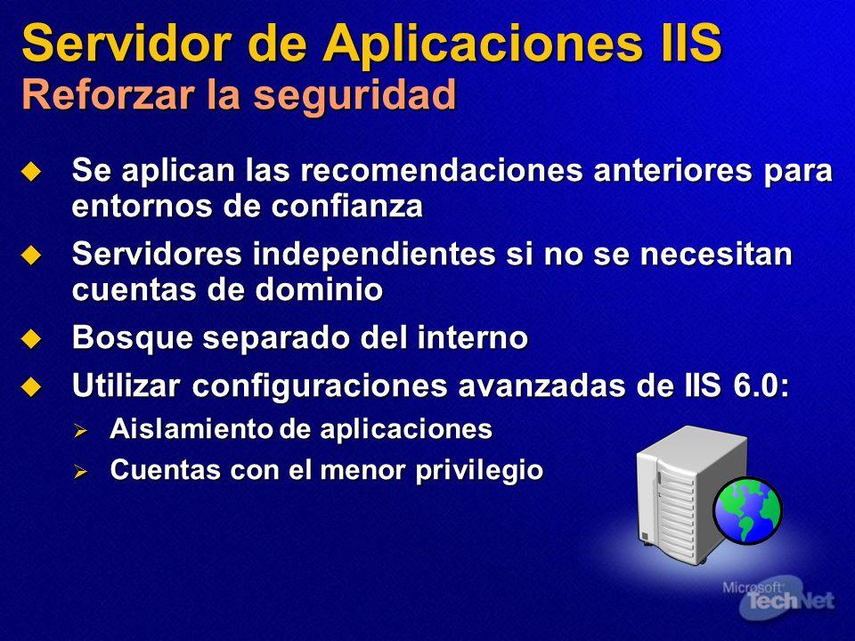 Servidor de Aplicaciones IIS Reforzar la seguridad
