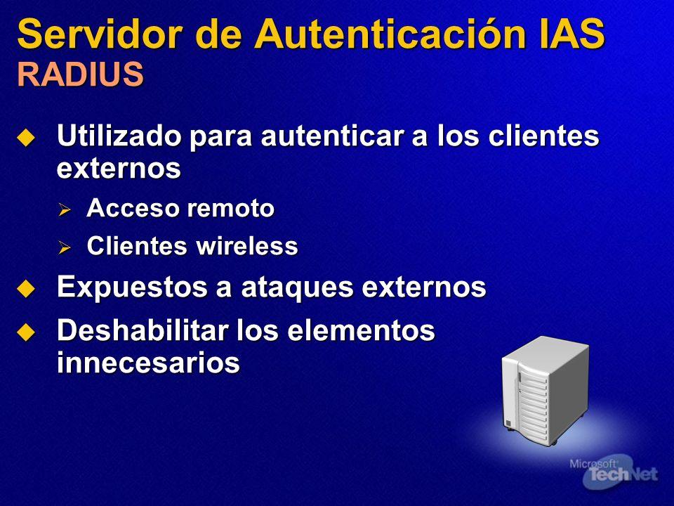 Servidor de Autenticación IAS RADIUS