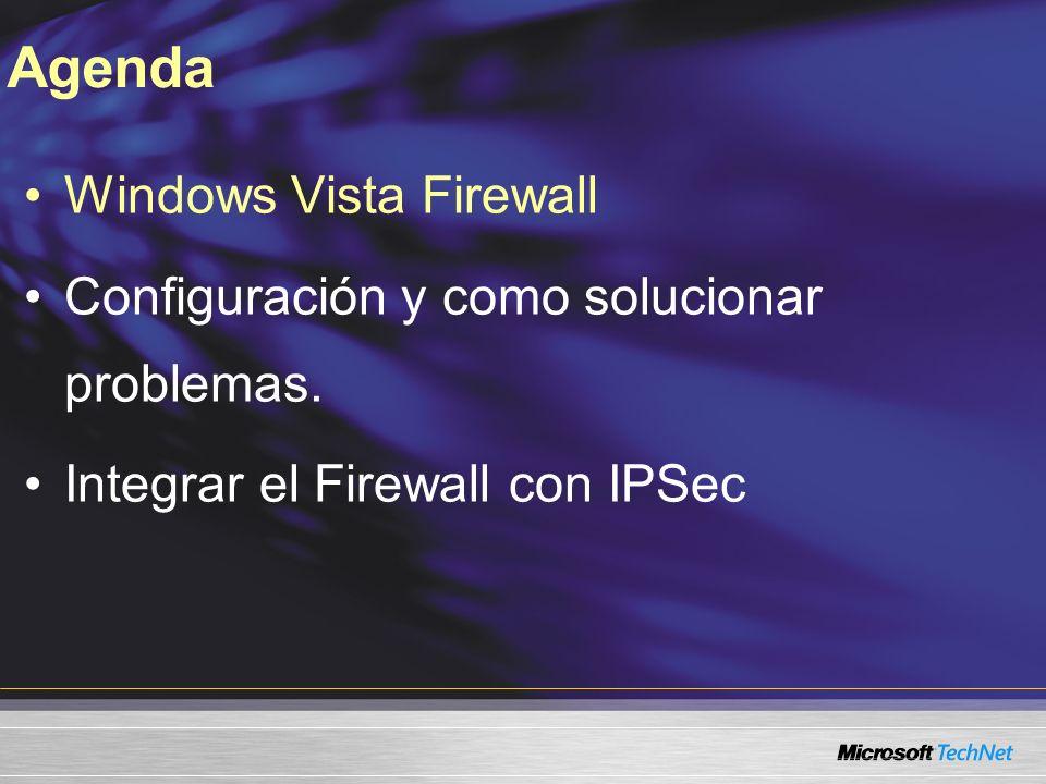 Agenda Windows Vista Firewall