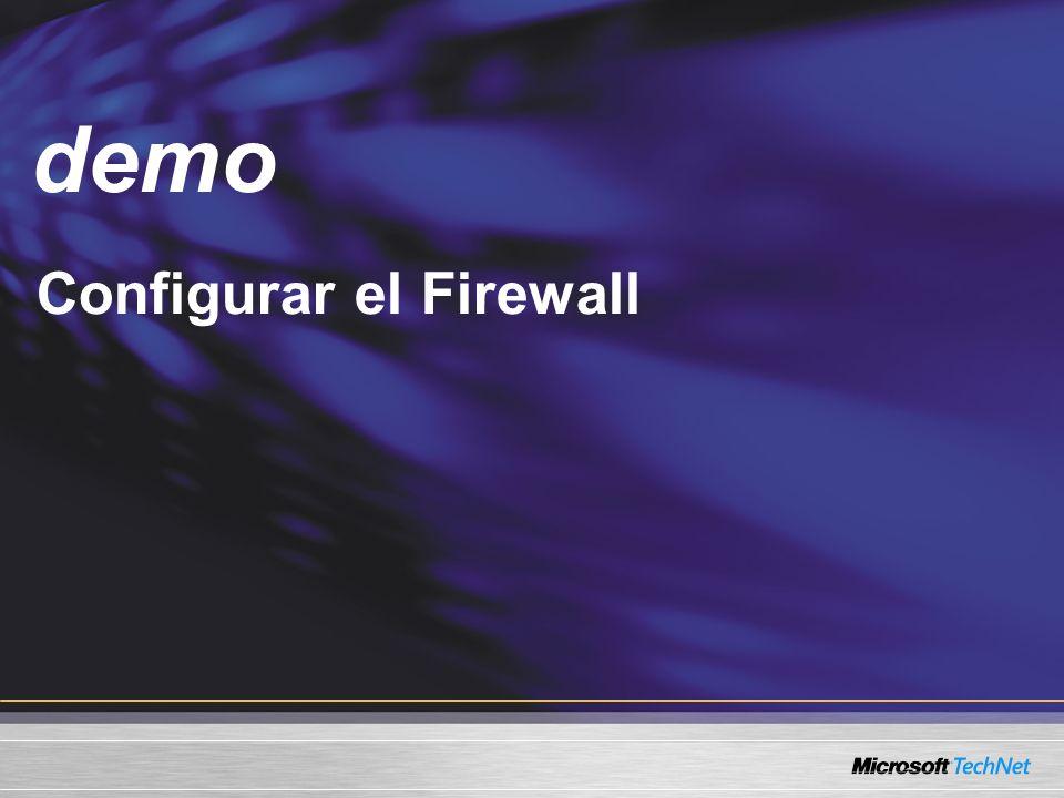 Demo demo Configurar el Firewall