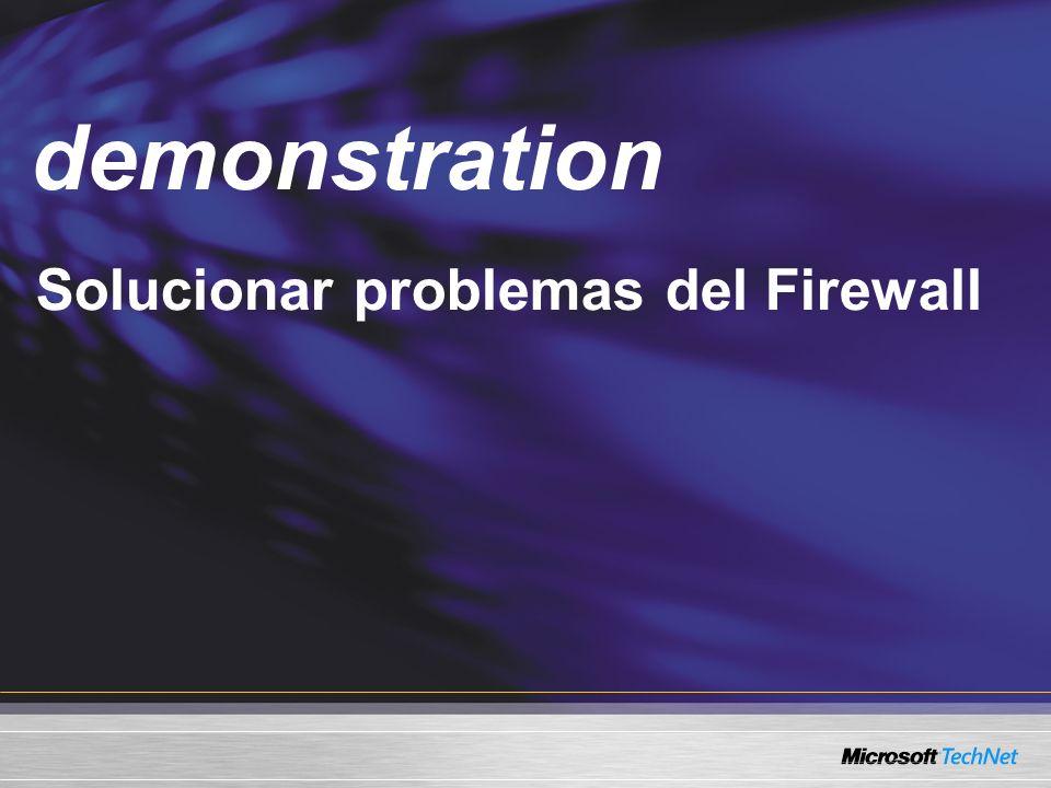 Demo demonstration Solucionar problemas del Firewall