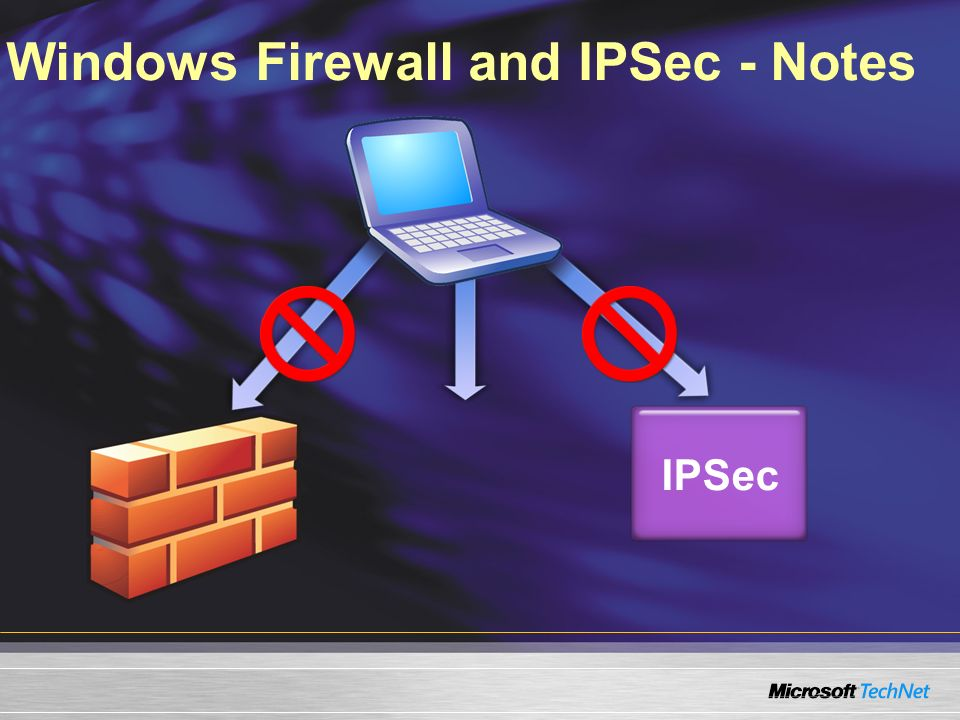 Windows Firewall and IPSec - Notes