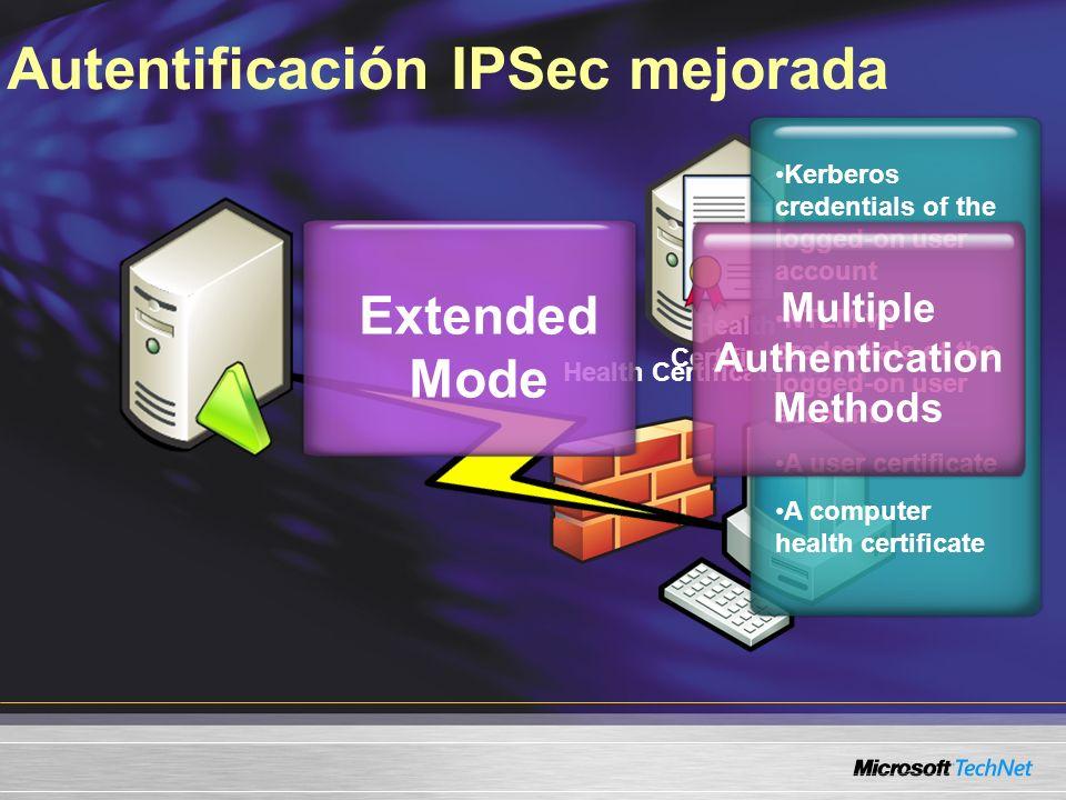 Autentificación IPSec mejorada