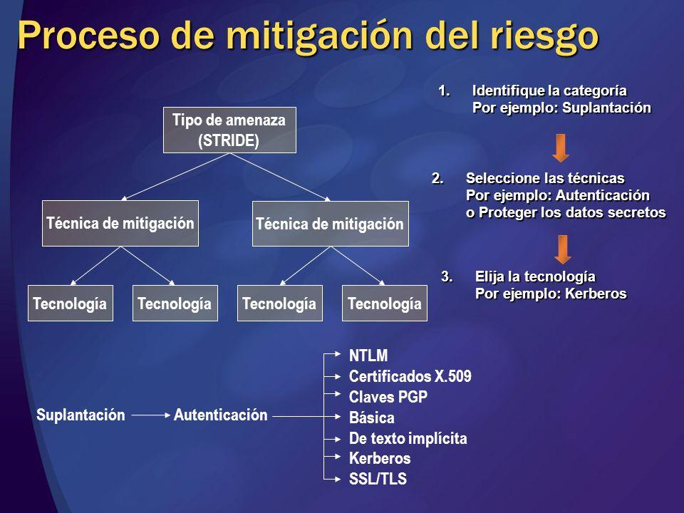 Proceso de mitigación del riesgo