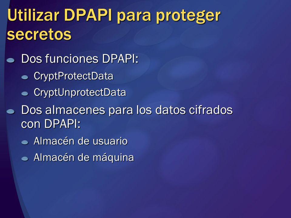 Utilizar DPAPI para proteger secretos