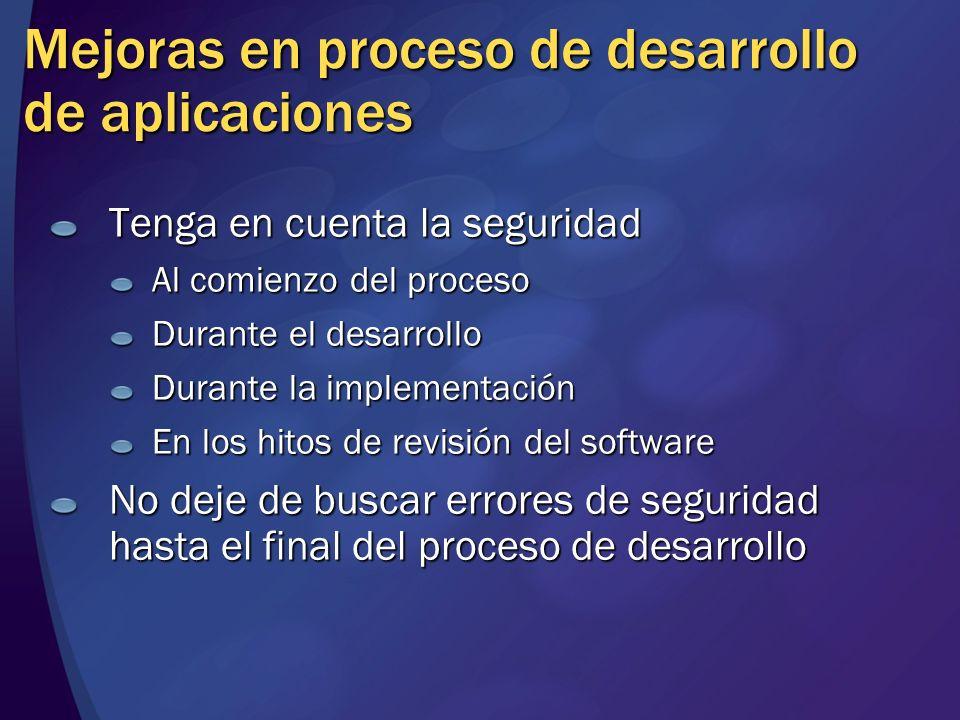 Mejoras en proceso de desarrollo de aplicaciones