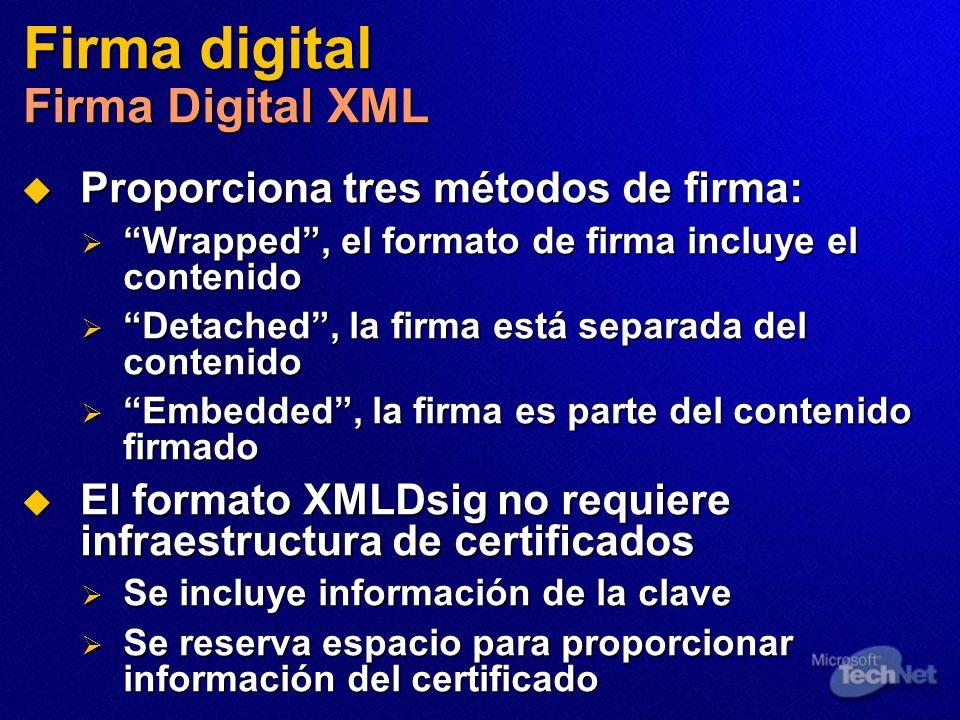 Firma digital Firma Digital XML