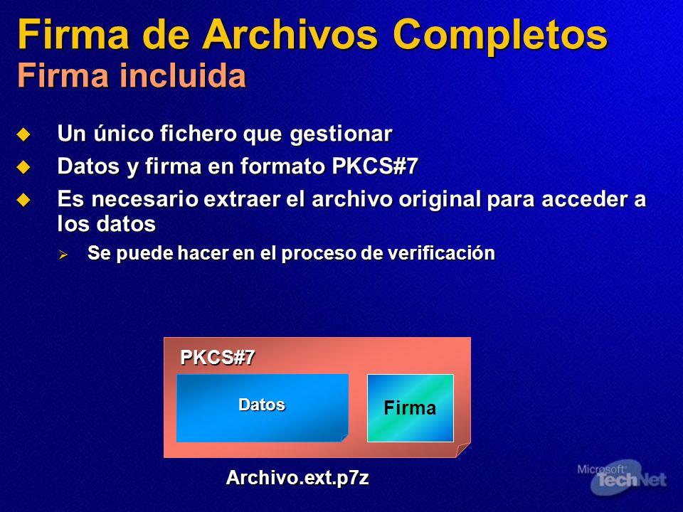 Firma de Archivos Completos Firma incluida