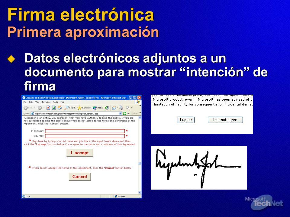 Firma electrónica Primera aproximación