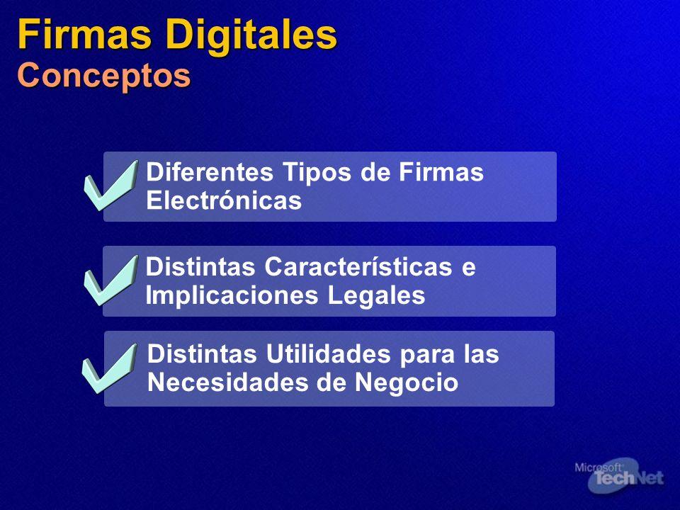 Firmas Digitales Conceptos