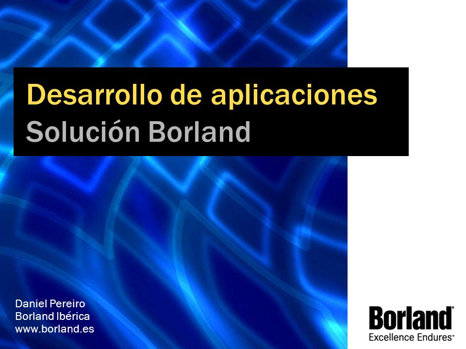 MGB 2003 Daniel Pereiro Borland Ibérica www.borland.es