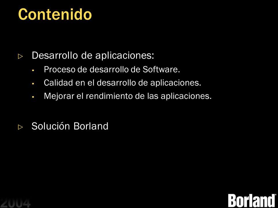 Contenido Desarrollo de aplicaciones: Solución Borland