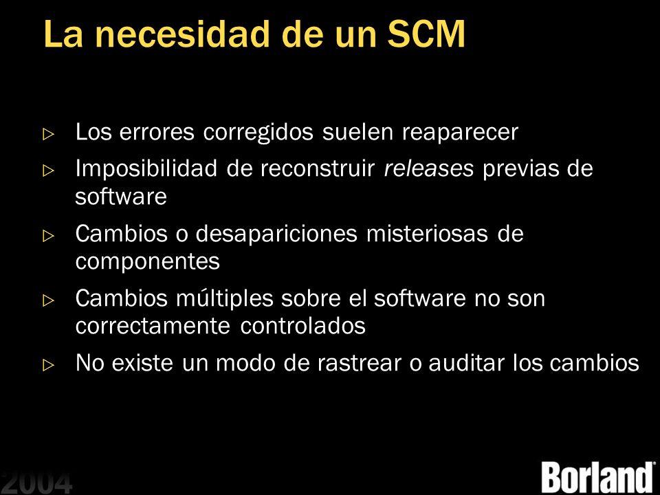 La necesidad de un SCM Los errores corregidos suelen reaparecer