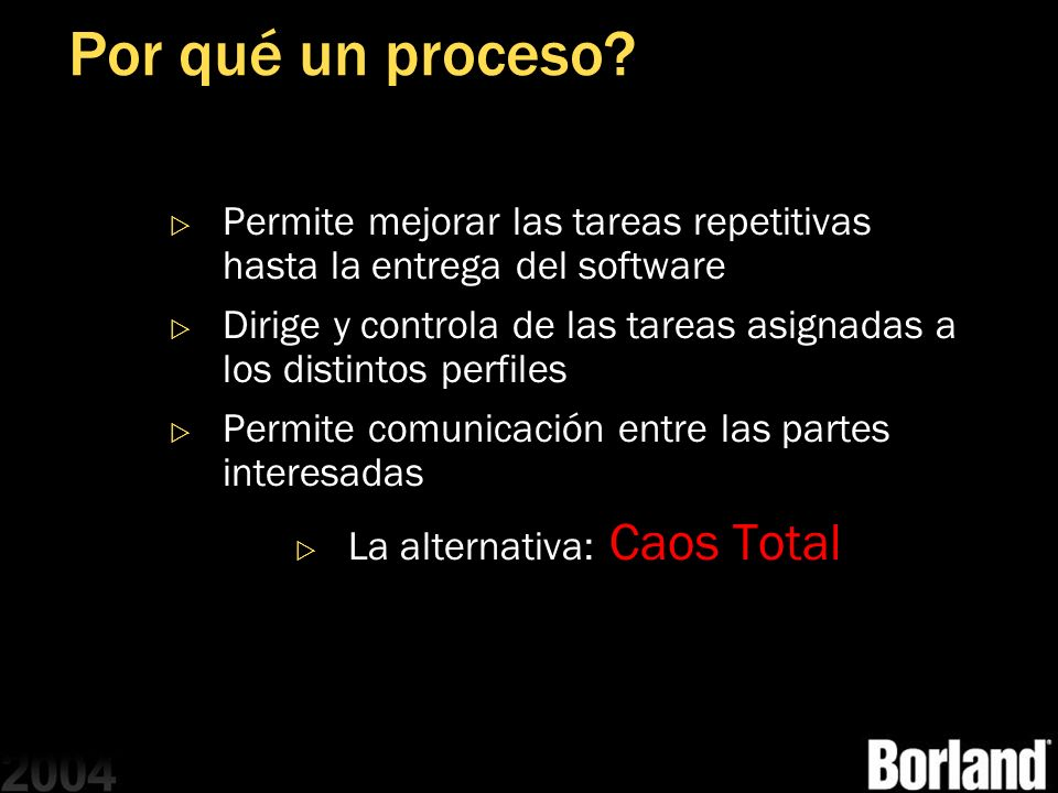 La alternativa: Caos Total
