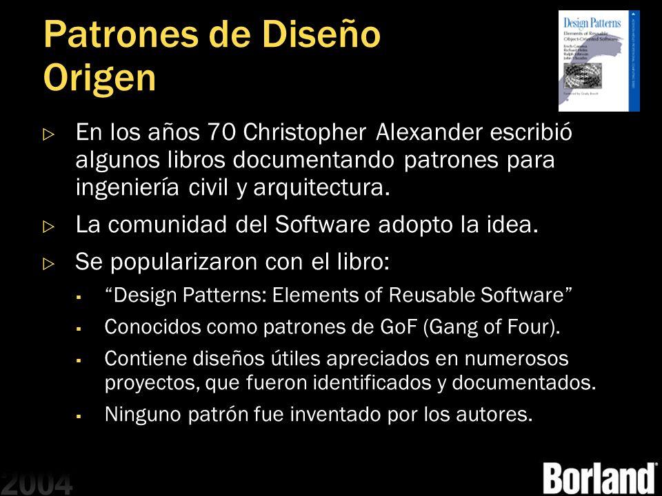 Patrones de Diseño Origen
