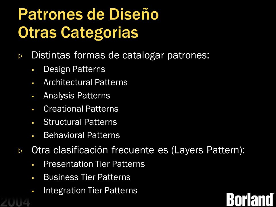 Patrones de Diseño Otras Categorias
