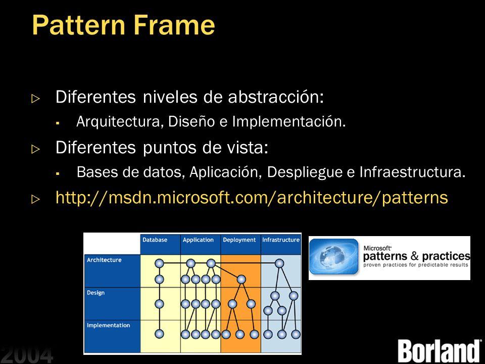 Pattern Frame Diferentes niveles de abstracción: