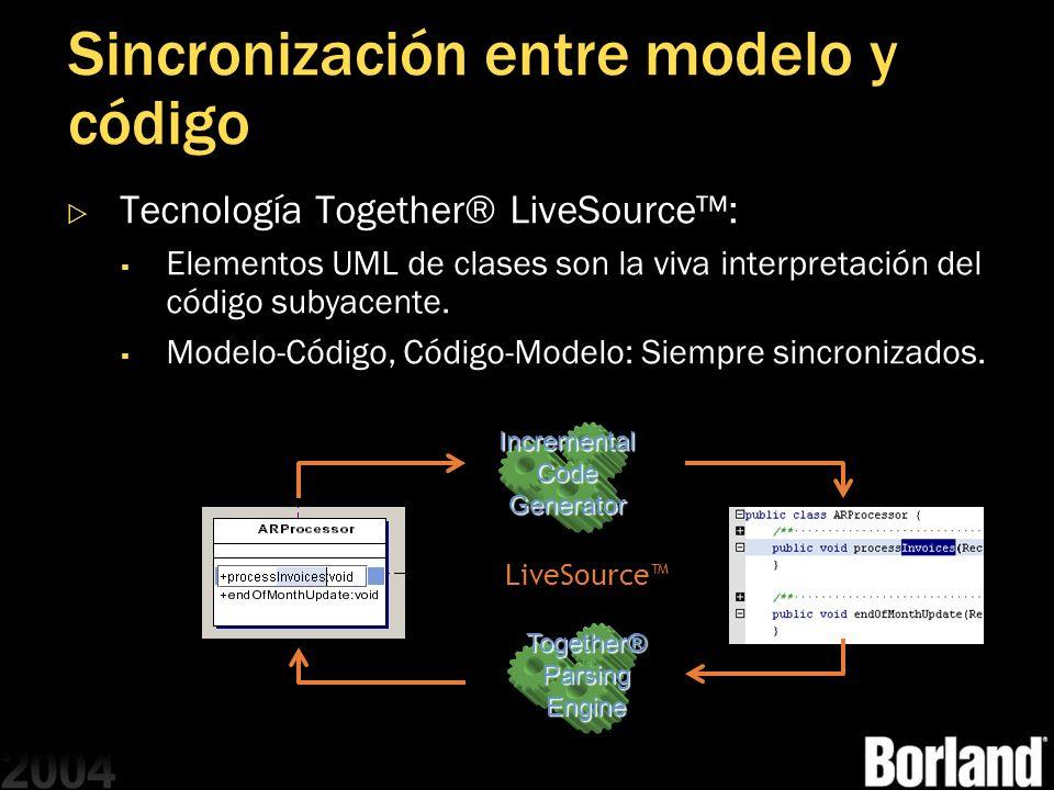 Sincronización entre modelo y código