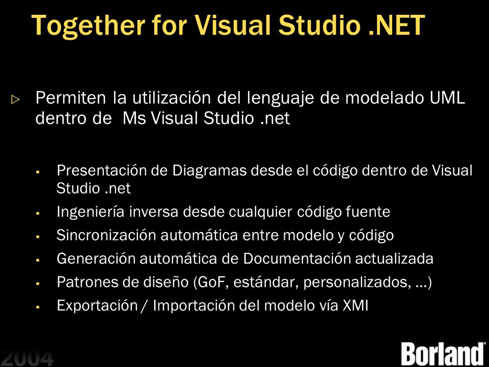 Together for Visual Studio .NET