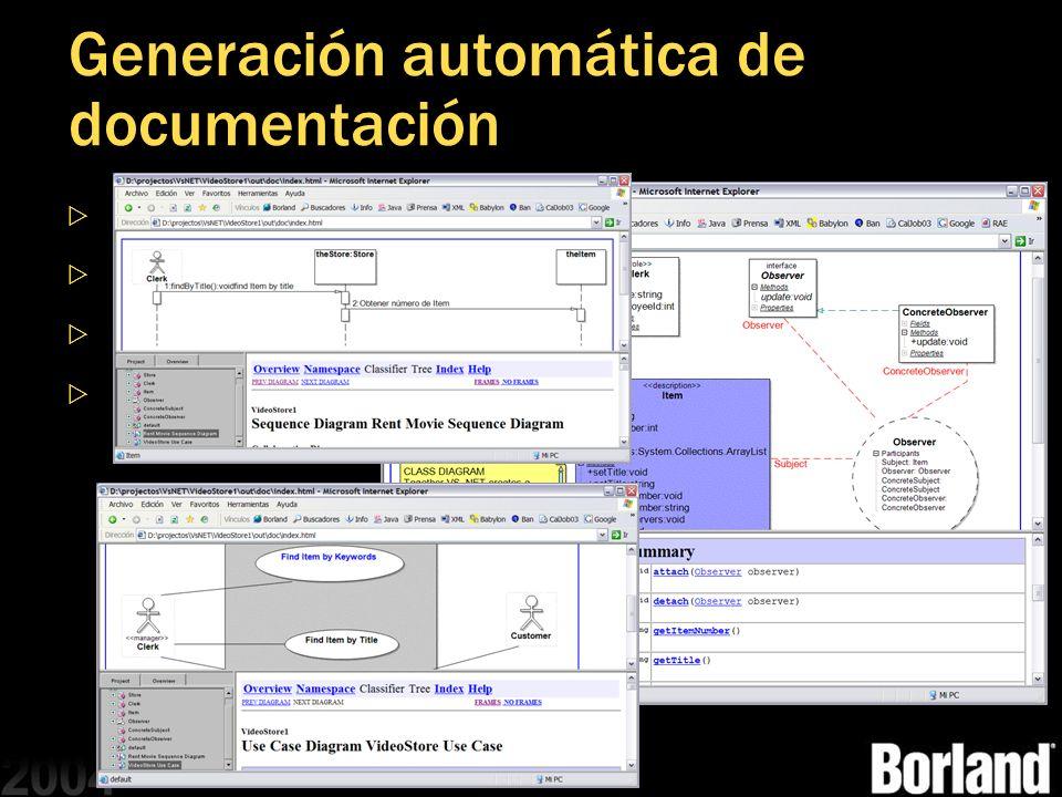 Generación automática de documentación