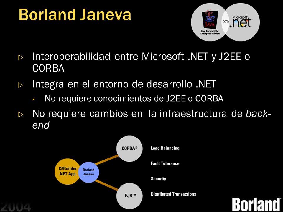 Borland Janeva Interoperabilidad entre Microsoft .NET y J2EE o CORBA