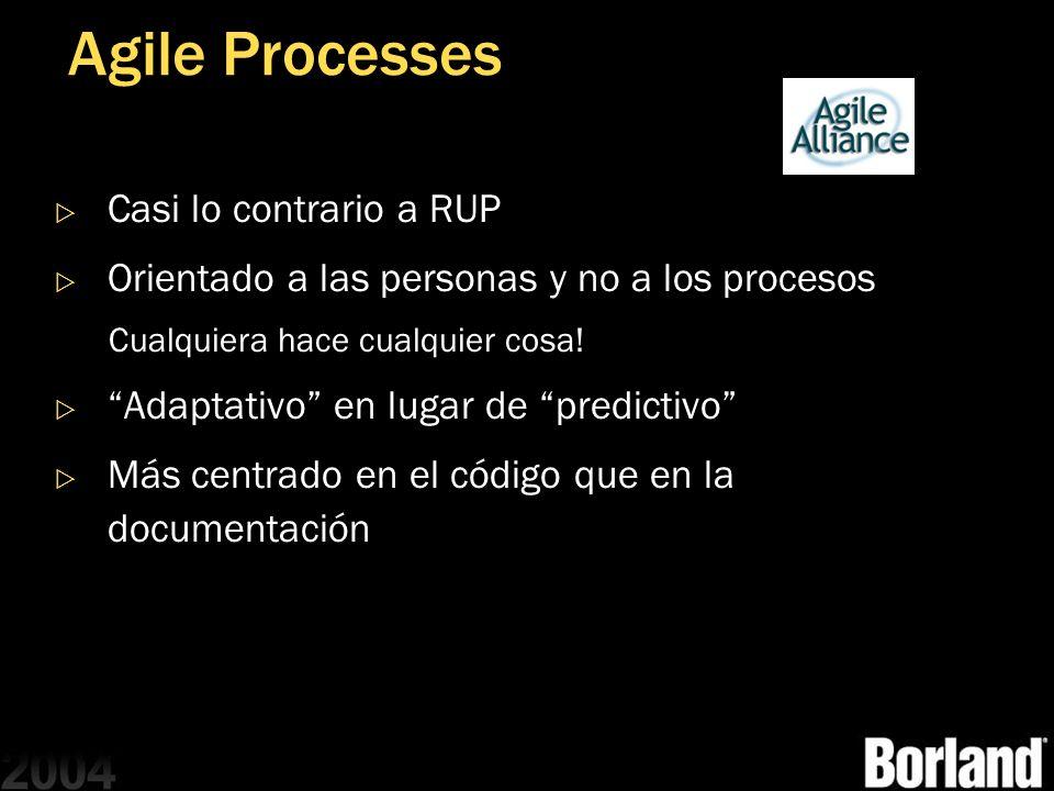 Agile Processes Casi lo contrario a RUP