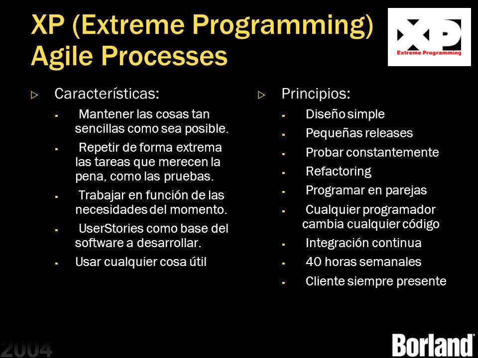 XP (Extreme Programming) Agile Processes