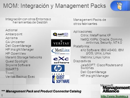 MOM: Integración y Management Packs