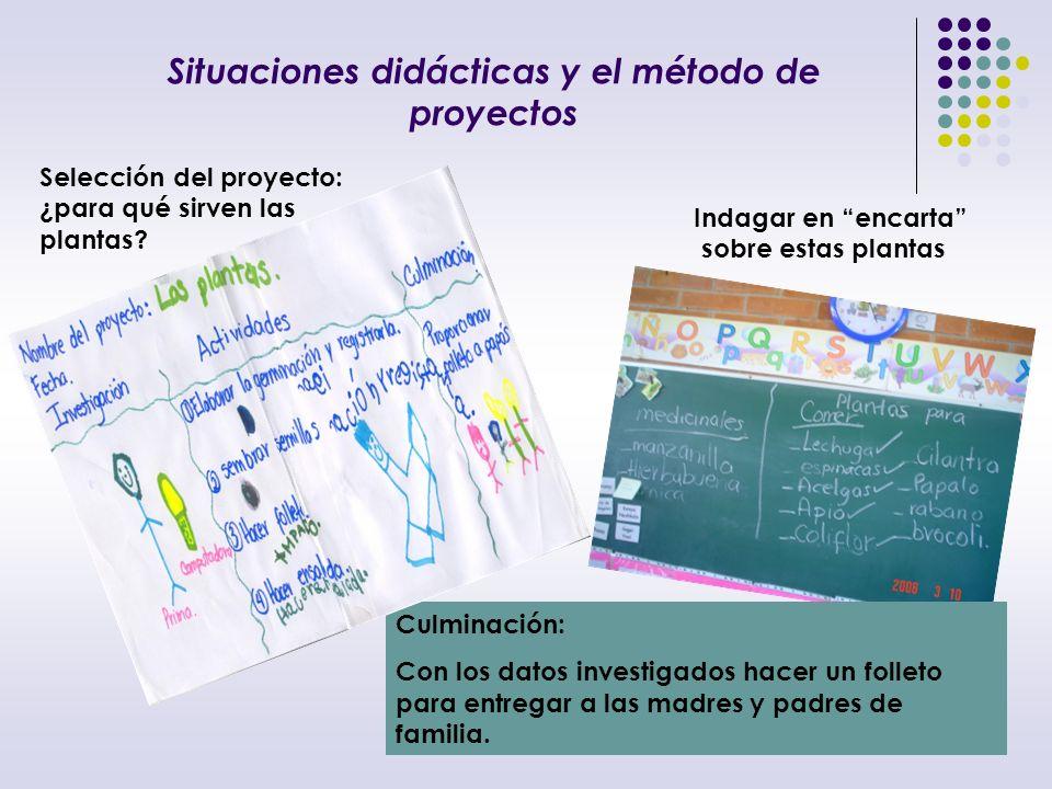 Situaciones didácticas y el método de proyectos