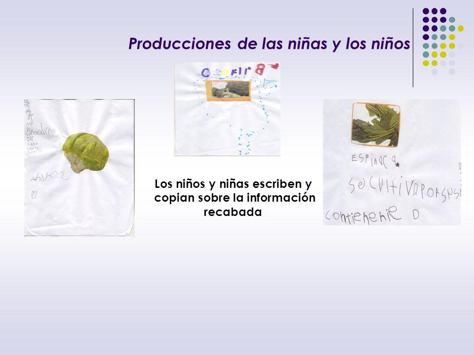 Producciones de las niñas y los niños