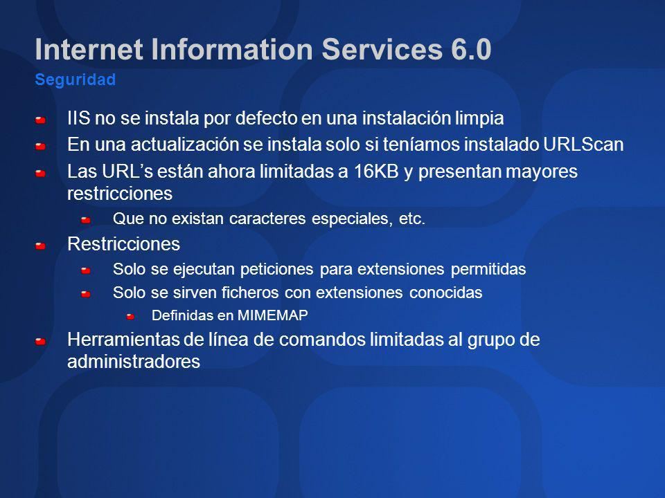 Internet Information Services 6.0 Seguridad
