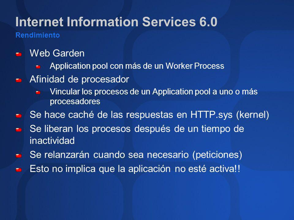 Internet Information Services 6.0 Rendimiento