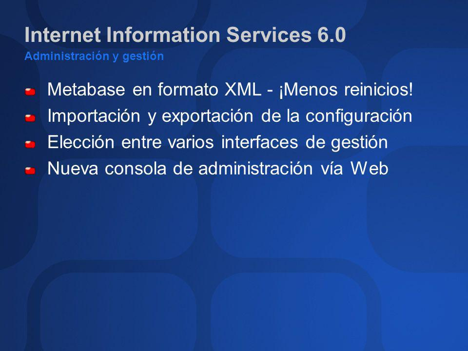 Internet Information Services 6.0 Administración y gestión