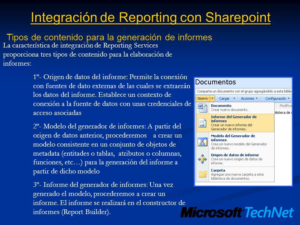 Integración de Reporting con Sharepoint