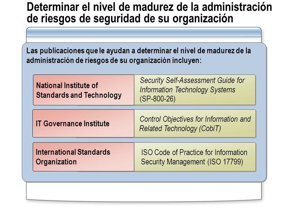 Determinar el nivel de madurez de la administración de riesgos de seguridad de su organización