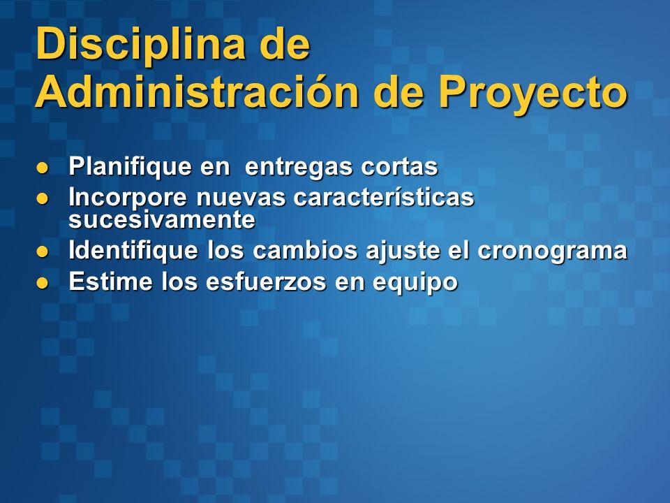 Disciplina de Administración de Proyecto