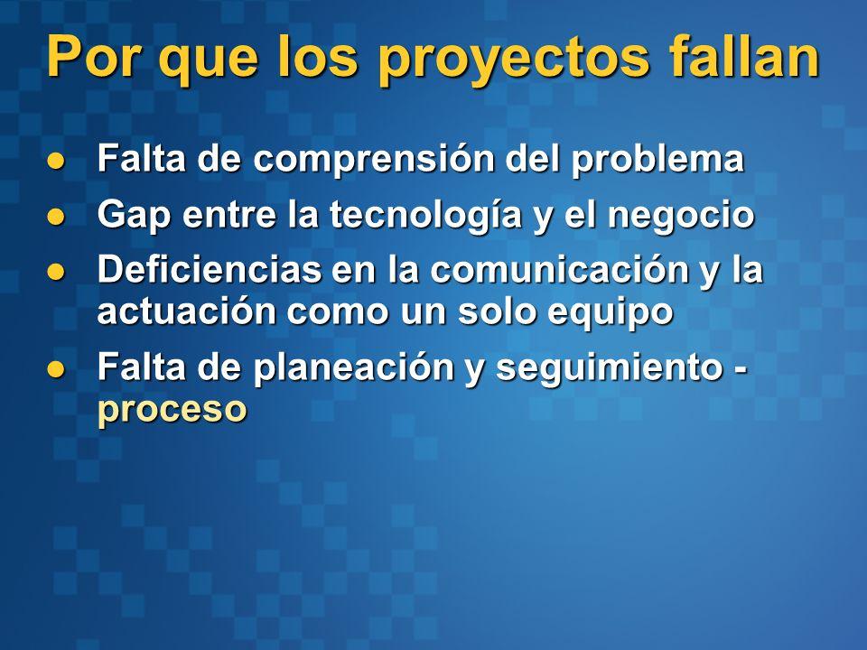 Por que los proyectos fallan