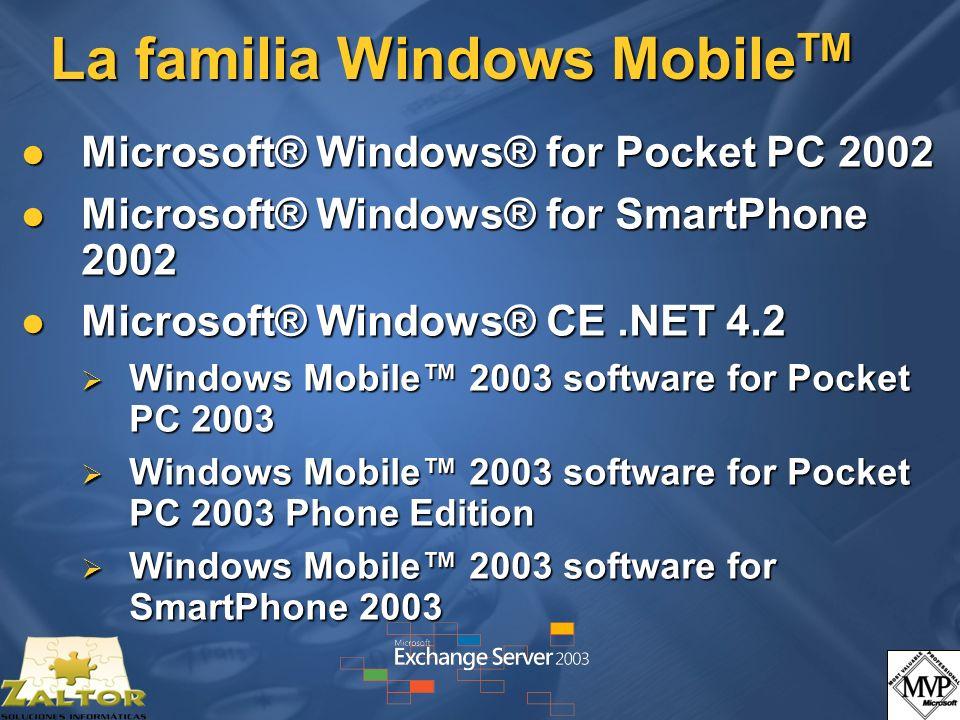 La familia Windows MobileTM
