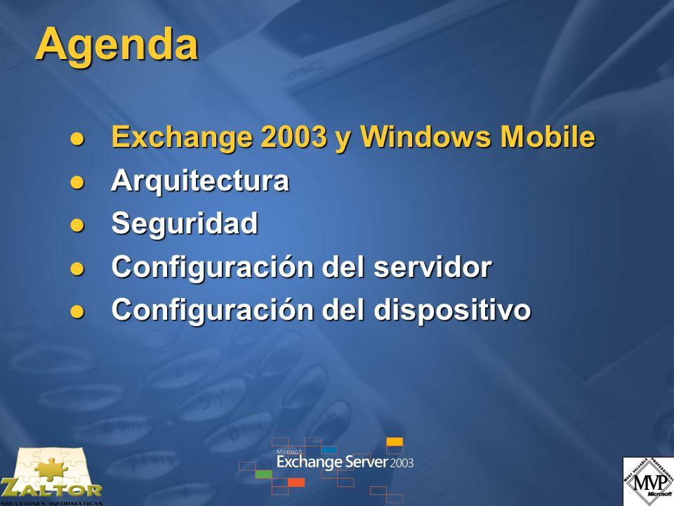 Agenda Exchange 2003 y Windows Mobile Arquitectura Seguridad
