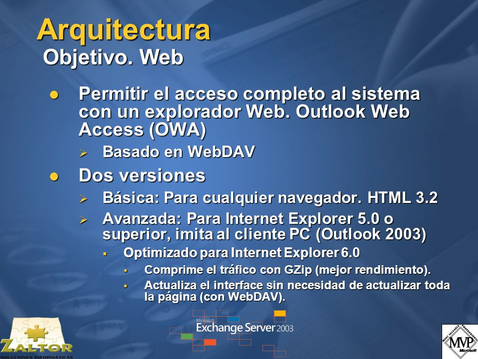 Arquitectura Objetivo. Web