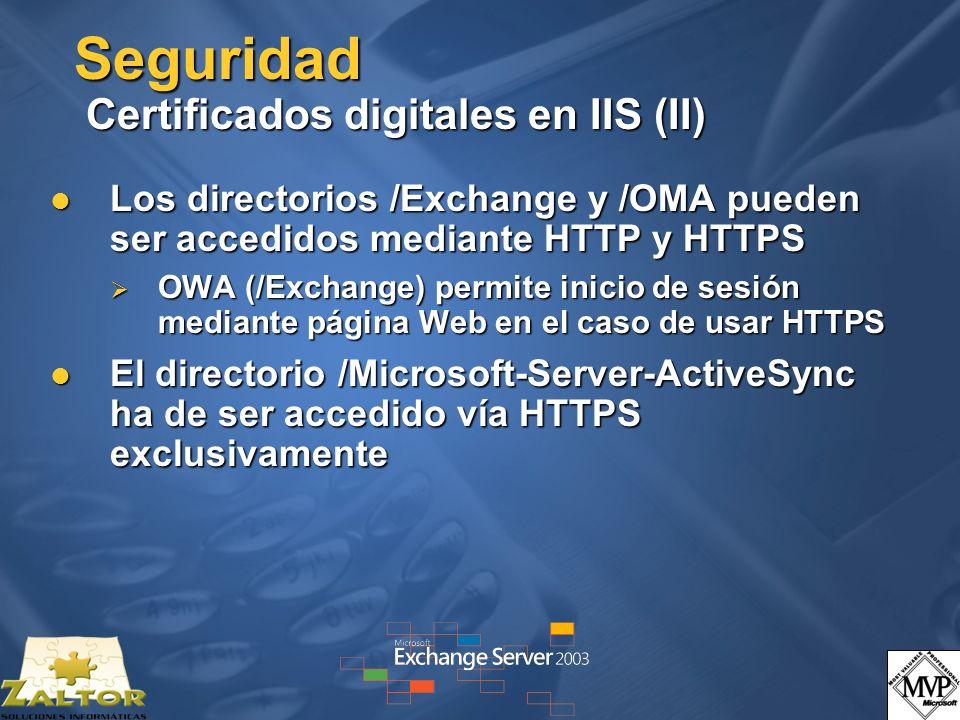 Seguridad Certificados digitales en IIS (II)